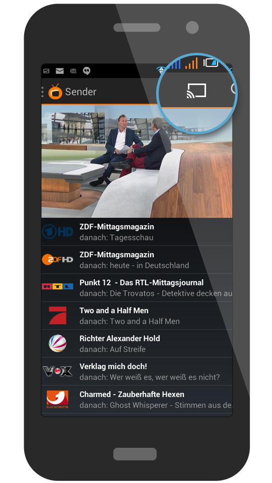 Zattoo With Chromecast On Android Devices Zattoo Support